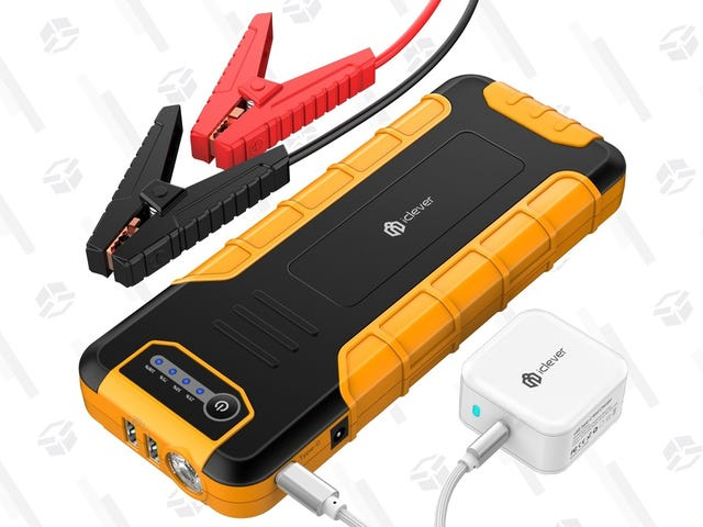 Save $20 On a Car Jump Starter That Can Also Charge Your MacBook and Switch