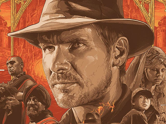 The <i>Indiana Jones</i> Trilogy Looks Incredible in This Triptych Poster