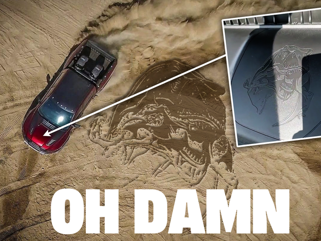 The Ram 1500 TRX Has An Anti-Raptor, Pro-Dinosaur Cannibalism Easter Egg