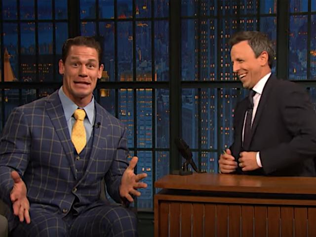 John Cena mengakui dia mencincang Red Sox daripada playoff kepada penyokong Boston, Seth Meyers