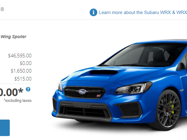"""Americans on the Internet: """"Who would pay $50k for a WRX STi?"""""""