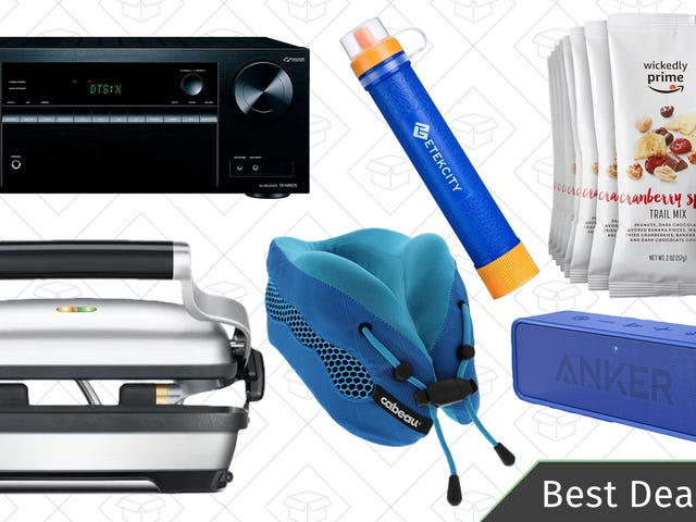 Saturday's Best Deals: Anker SoundCore, Trail Mix, Cabeau Travel Pillows, and More