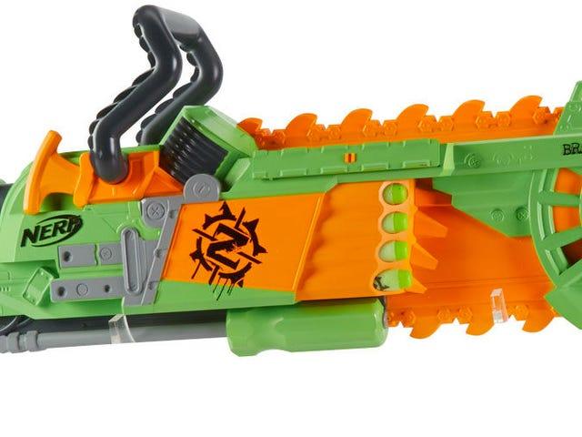 Nerfs nya Brainsaw Blaster omfattar en Spinning Skumsågsåg