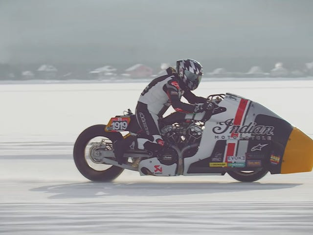 This Wild Motorcycle Was Built To Go Really Fast On Ice