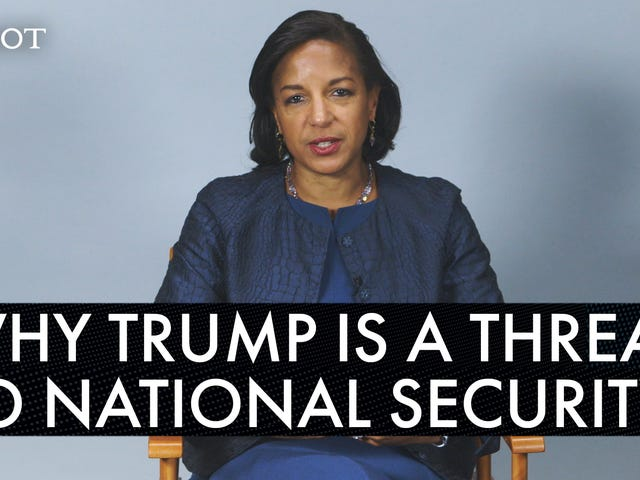 Susan Rice Breaks Down Why Trump Is a Threat to National Security and Chats Tough Love