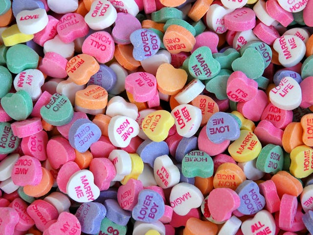 Necco's conversation hearts are chalk full o' goodness once more