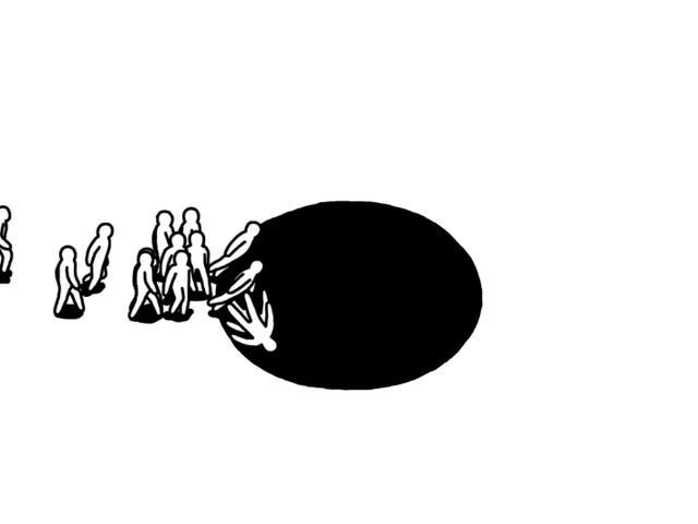 A Sparse Game About Pushing People Into Holes