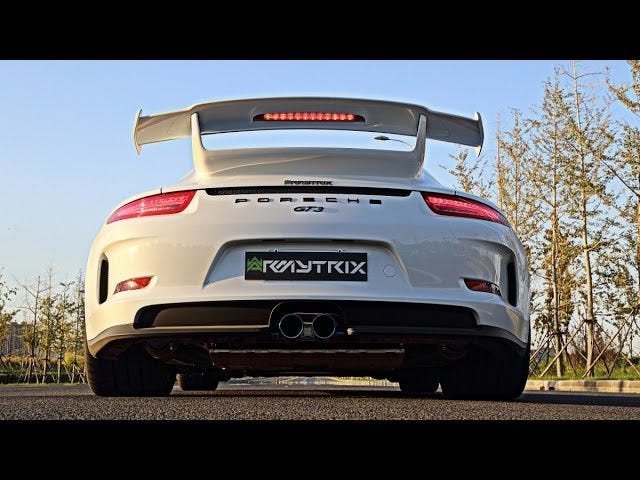 GT3 (991) with Armytrix exhaust sounds ... rad?