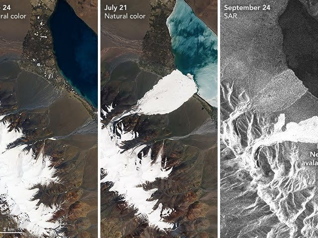 Enormous, Mysterious Ice Avalanches Strike Tibet
