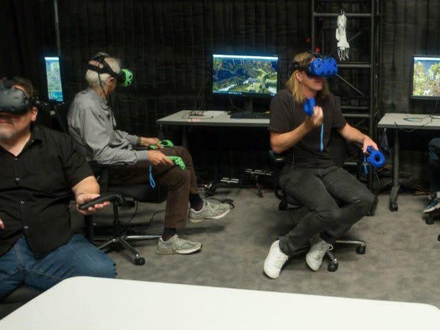 Le Roi Lion 'Set' était un tas de casques de réalité virtuelle dans un entrepôt géant