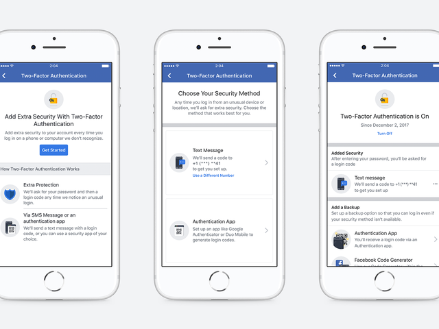 Facebook Won't Force You to Use a Phone Number for Two-Factor Authentication Anymore