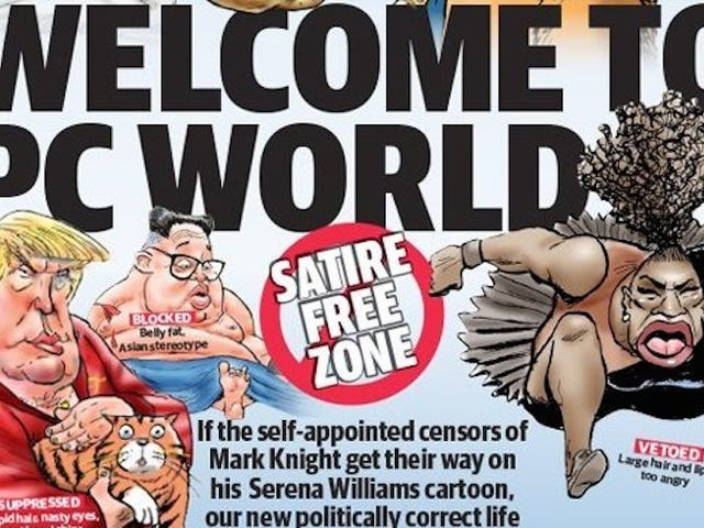 Hypothetical Grievances Presented By An Australian Newspaper To Defend Its Big-Lipped Serena Williams Cartoon, Ranked