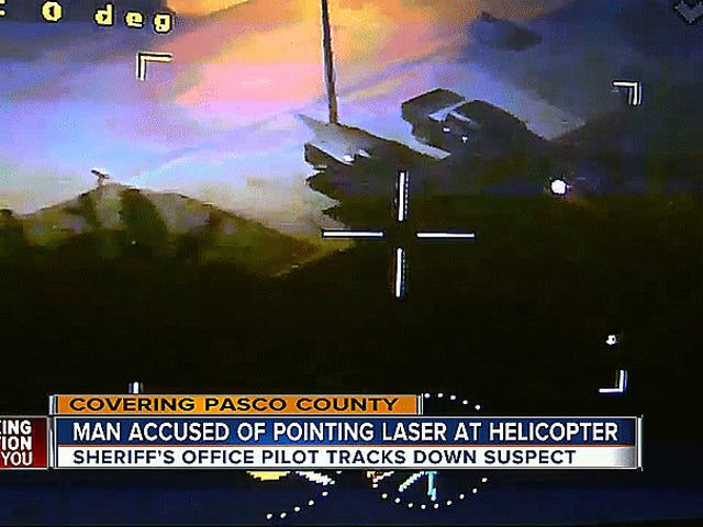 Florida Man Gets Arrested After Pointing A Laser Pointer At A Police Helicopter