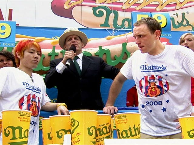 Mistrz hot dogów Joey Chestnut w ESPN's 30 For 30: The Good, The Bad, The Hungry