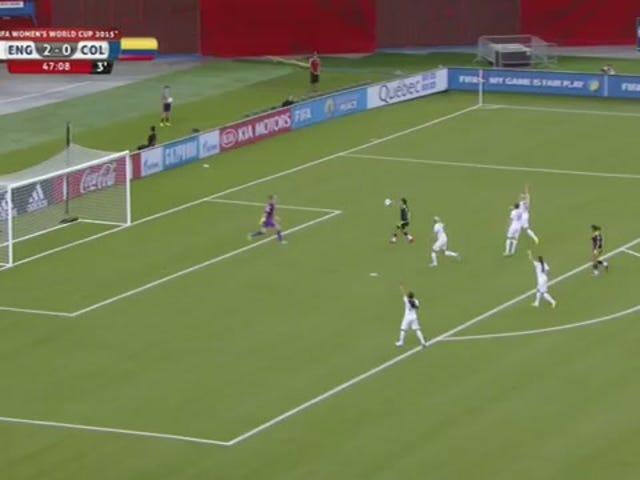 El guardián inglés aplana a colombianos y nos roba un brillante gol de equipo