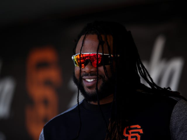 Here's A Blessed Video Of Johnny Cueto Riding A Prancing Pony