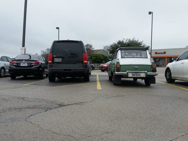 Any time an SUV parks next to the Saab, I reflexively compare ground clearance.