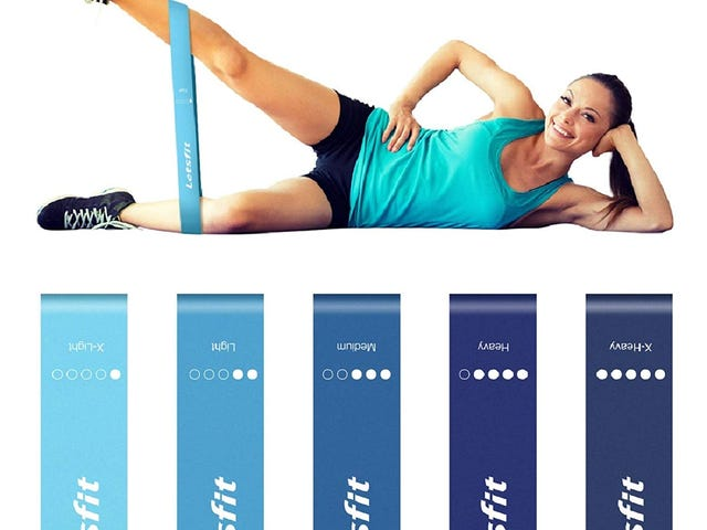 """35 % OFF Letsfit 12"""" x 2"""" Resistance Loop Bands, Resistance Exercise Bands for Home Fitness $7.79"""