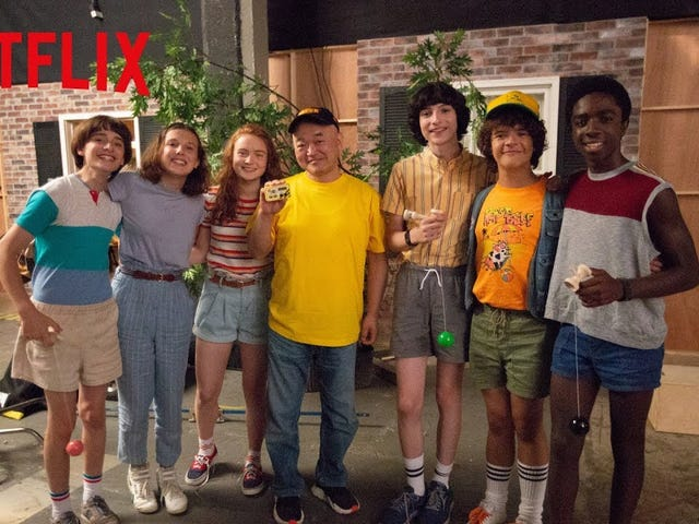 Netflix Japan had the Stranger Things kids meet up with Japan's most famous gamer Takahashi-meijin
