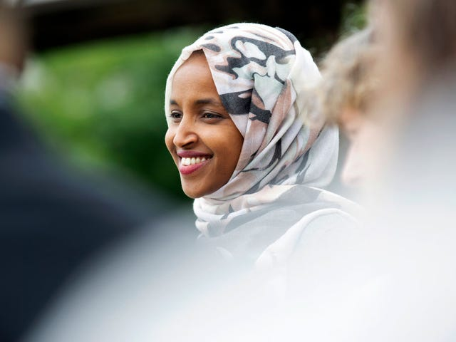 Rep. Ilhan Omar Receives Hero's Welcome at Minnesota Airport; Jealous Trump Says It Was Staged, Claims Media Has 'Sick Partnership' With the Squad