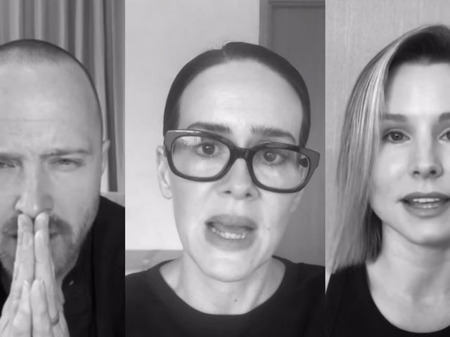"The celebs are at it again, this time with a PSA in which they ""take responsibility"" for racism"