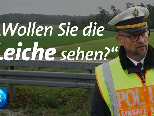 """German Policeman scolds rubbernecking drivers for """"taking pictures of dead people."""""""