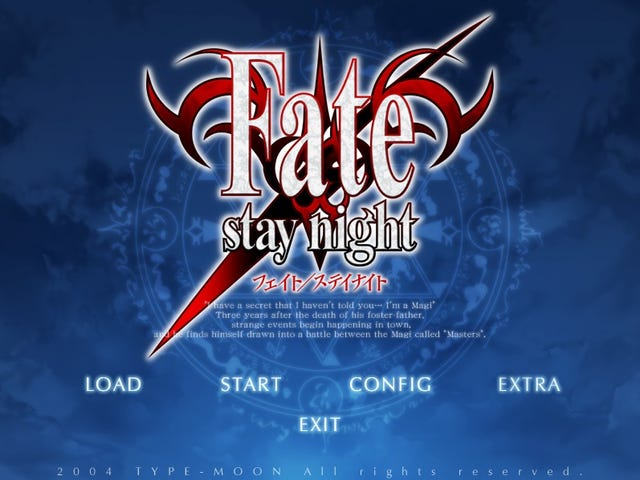 My thoughts on: Fate/Stay Night (VN)
