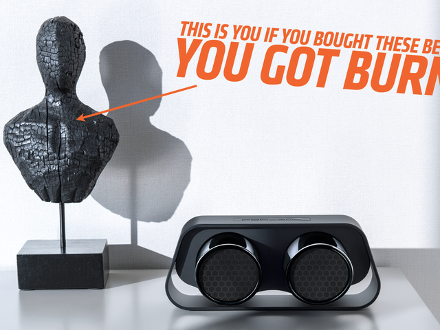 Hey Dumbasses, Spend Way Too Much On These Speakers That Sort Of Look Like Porsche 911 Exhaust Pipes