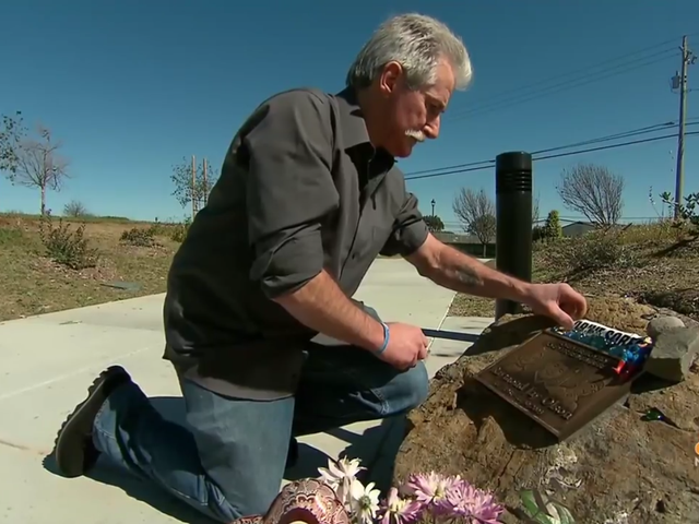 Father Who Quietly Maintained A Memorial To His Son For 12 Years Gets Permanent Tribute From Property Owner