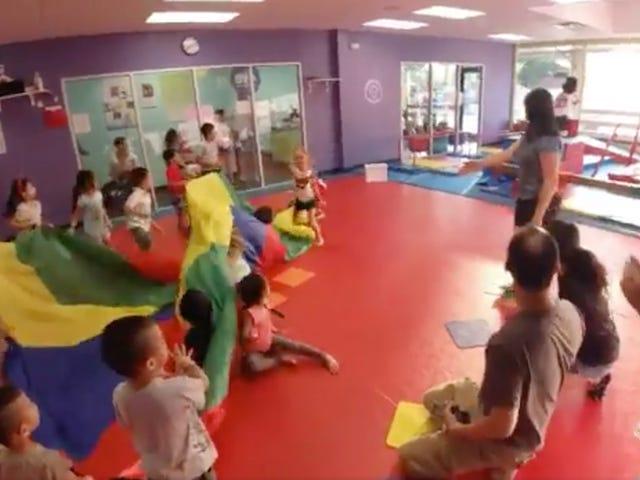 Children's Birthday Party Gets Much Cooler After New Jersey Devils' Mascot Runs Through Glass Window