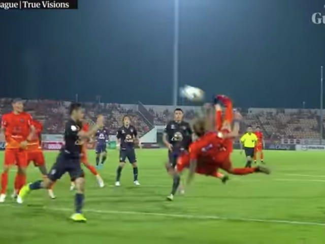 Witness The Invention Of The Tandem Bicycle-Kick Goal