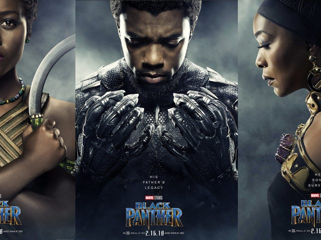 Thousands of Black Nerds Reportedly Deceased as Black Panther Character Posters Slay the Internet