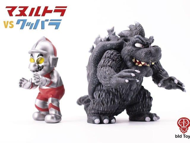 Mario, Meet Ultraman & Godzilla