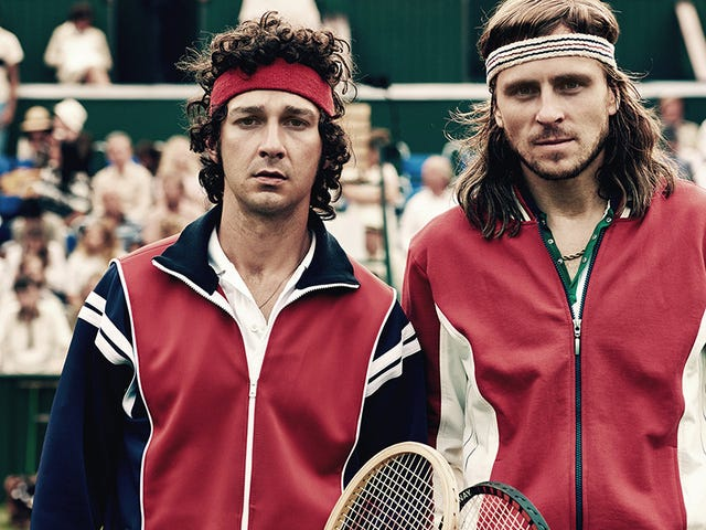 Shia LaBeouf harnesses his assholery to play the most hated man in tennis on opening night of TIFF