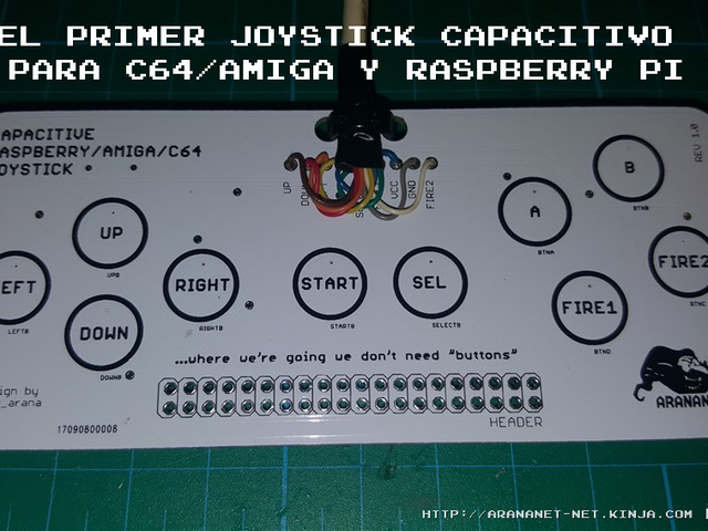 El primer joystick capacitivo para C64/Amiga y Raspberry Pi