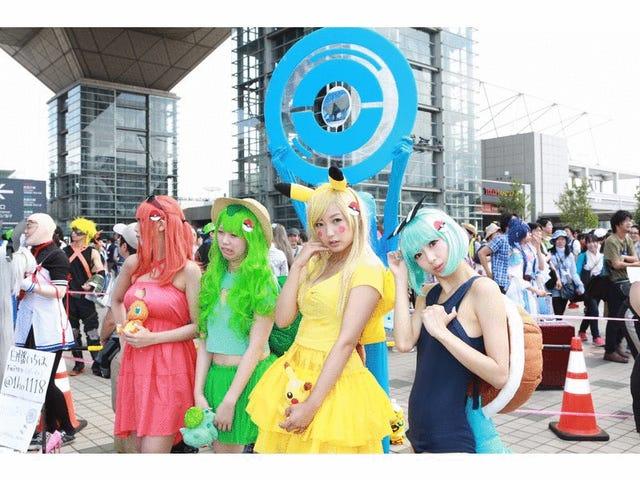 C'est l'été et le temps au cosplay au Japon