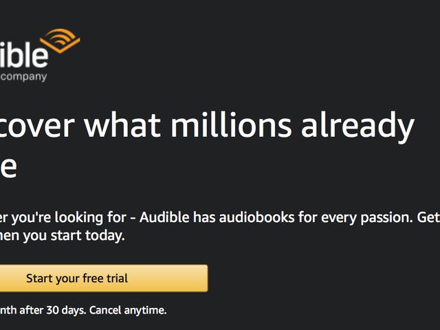 Mendaftar Untuk Percubaan Audible Percuma, Dapatkan Dua Audiobooks Untuk Terus