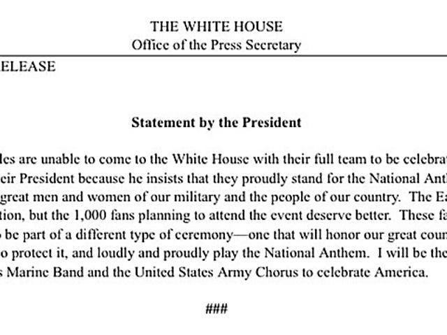 Flag-Humping President Disinvites Eagles From White House Visit [Update]