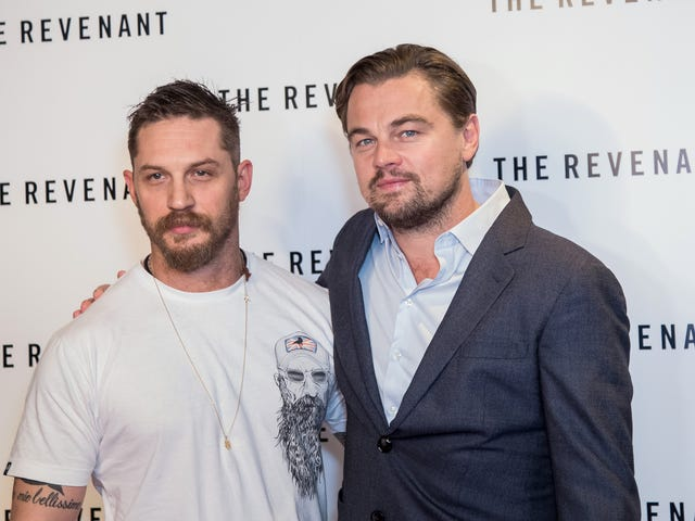 Tom Hardy Got a 'Leo Knows All' Bicep Tattoo Because He Lost a Bet to Leonardo DiCaprio