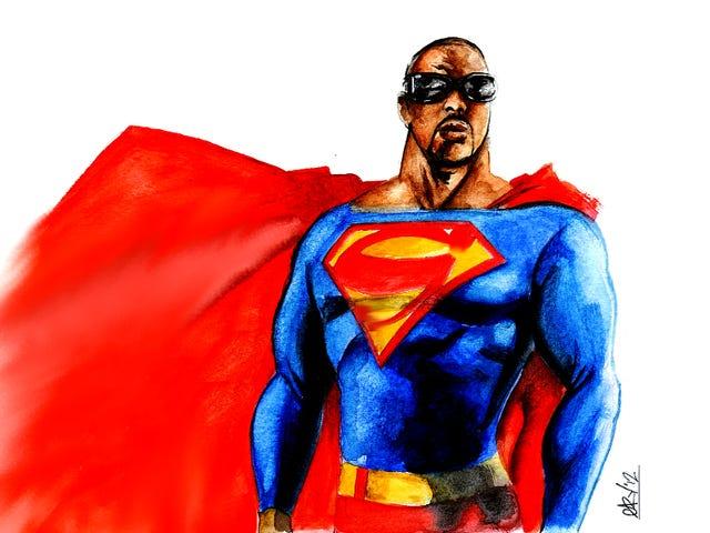 Süpermen'in en sevdiğim versiyonunda tatlı bir afro vardı.