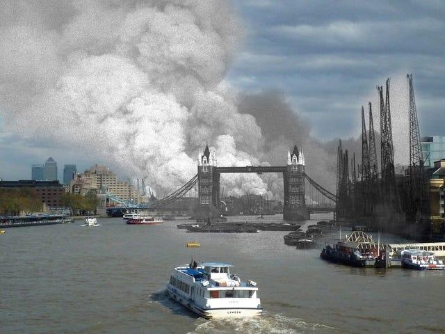 Frightening Composite Photos Retell the Terror of the London Blitz