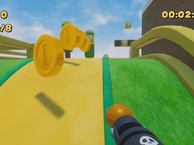 Birinci Şahıs Mario Dang Face Goombas Vur sağlar