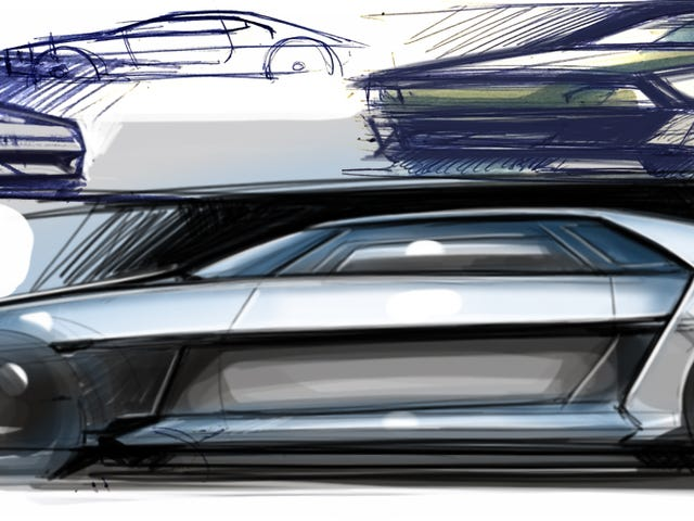 First quick sketches of a new DeLorean