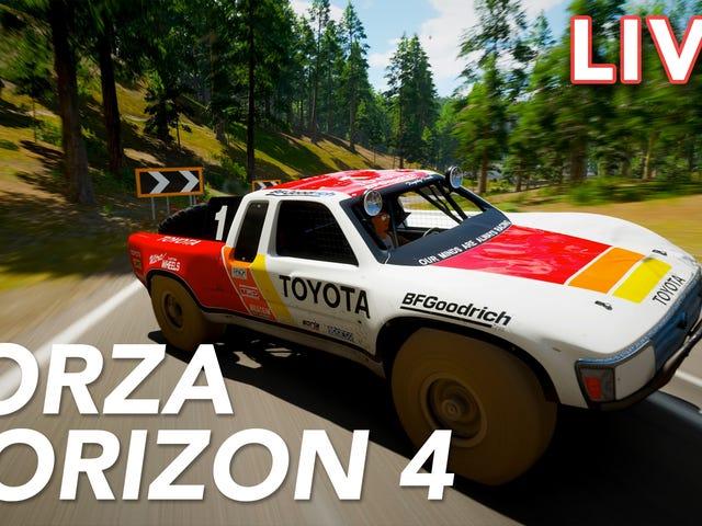 우리는 새로운 Forza Horizon 4를 Jalopnik과 Tim Rogers의 Kristen Lee와 함께 트와 치에 스트리밍하고 있습니다.