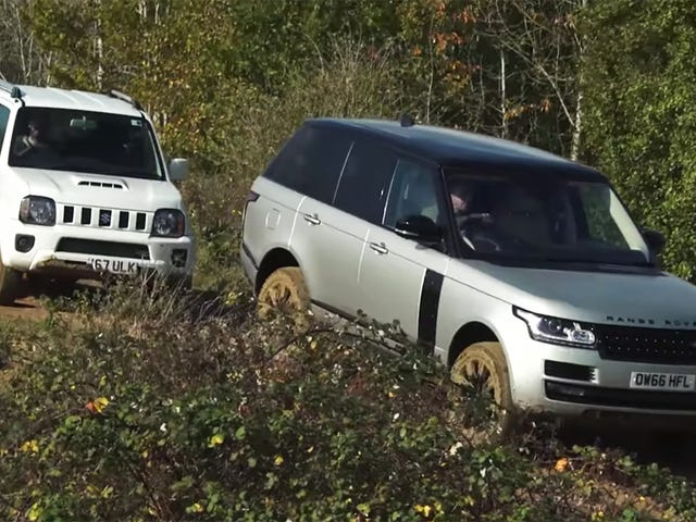 Watch A $20,000 Suzuki Kick A $170,000 Range Rover's Ass Off-Road