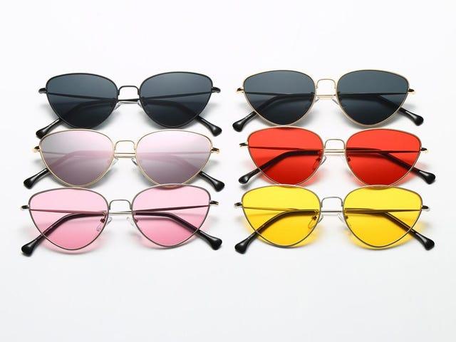 Wanita Lelaki Summer Vintage Retro Cat Eye Glasses Unisex
