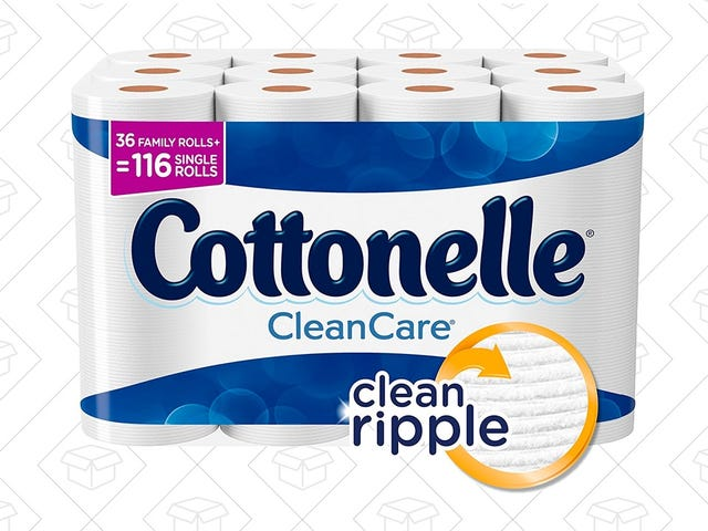 Stop Flushing Your Money Down The Toilet - Get 36 Rolls of Cottonelle For $18