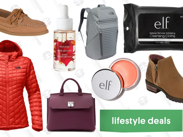 Thursday's Best Lifestyle Deals: The North Face, Sperry, e.l.f. Cosmetics, and More