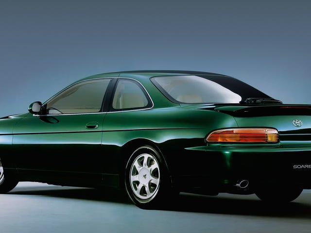 Let us pause for a moment to appreciate the subtle, classy beauty of the Lexus SC, pictured here in its original Toyota Soarer…