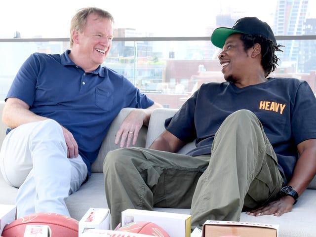Jay-Z visar sitt NFL-partnerskap som utvecklingen av Colin Kaepernicks protester.  Men är det?